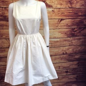 NWT Kate Spade Tanner Dress in Light Cream w/ Bow